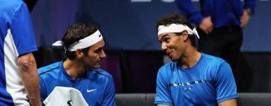"""Rafael Nadal e Roger Federer non pensano di ripetere il doppio anche nel circuito maggiore. Scherza Roger """"""""Forse potremmo giocare insieme alle Olimpiadi se Rafa diventasse svizzero. O io spagnolo. """""""
