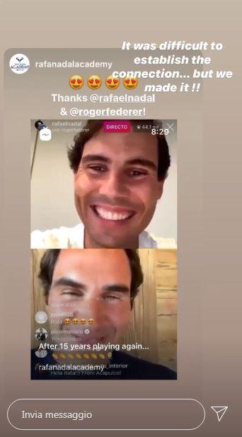 Ed arrivano Nadal, Federer e Murray in una diretta Instagram
