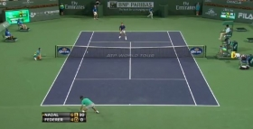 Passante davvero notevole di Rafael Nadal