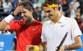 Nella foto Rafael Nadal e Roger Federer