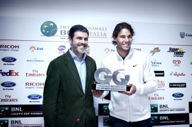 Rafael Nadal è con Carlo Annese, ViceDirettore di GQ
