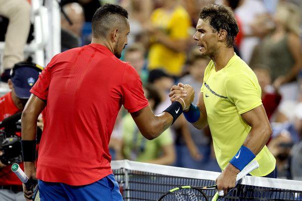 Rafael Nadal e Nick Kyrgios nella foto