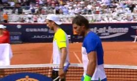 Andreas Seppi e Rafael Nadal nella foto