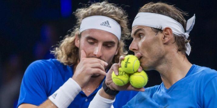 Stefanos Tsitsipas classe 1998 e Rafael Nadal classe 1986