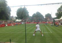 Rafael Nadal vittorioso oggi nell'esibizione di Hurlingham