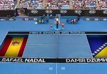 Carlos Bernades dà un warning a Nadal prima che inizi l'incontro (Video)