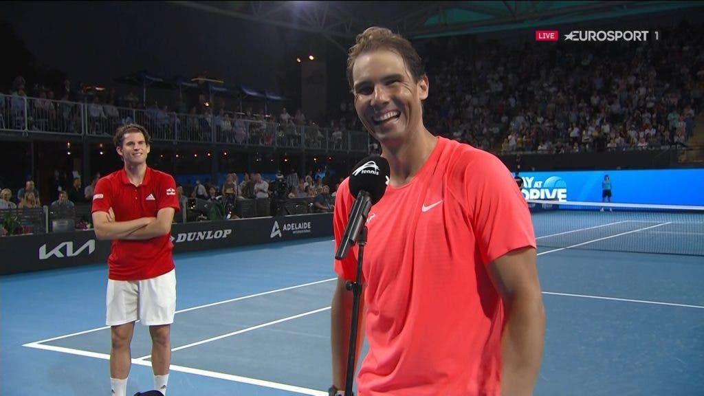Rafael Nadal con Dominic Thiem nella foto