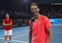 Esibizione Adelaide: Rafael Nadal batte Dominic Thiem in due set (con le dichiarazioni dei due giocatori – Video)