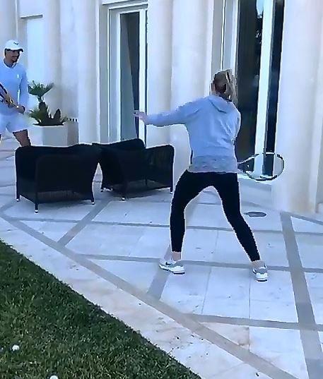 Rafael Nadal con la sorella Maribel