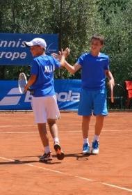 Mattia Bernardi (sinistra) e Samuele Pieri, a segno nel doppio contro la Croazia (foto Arianna Paris)