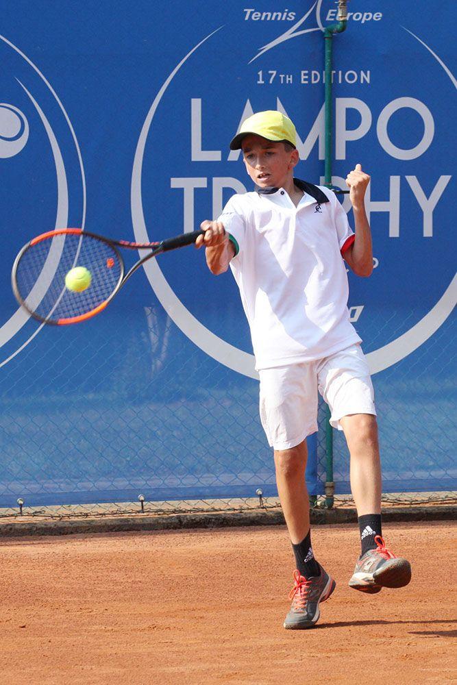 Guglielmo Verdese, 12 anni da Genova, è uno dei componenti della formazione azzurra in semifinale alla Lampo Trophy Nation Cup - Foto Alvaro Maffeis