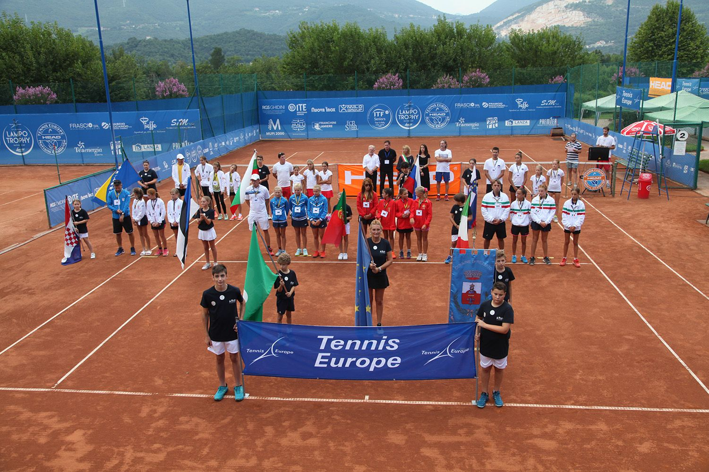 la cerimonia inaugurale del Tennis Europe Nations Challenge by Head, al via giovedì all'Olimpica Tennis Rezzato (Brescia) - Foto Alvaro Maffeis