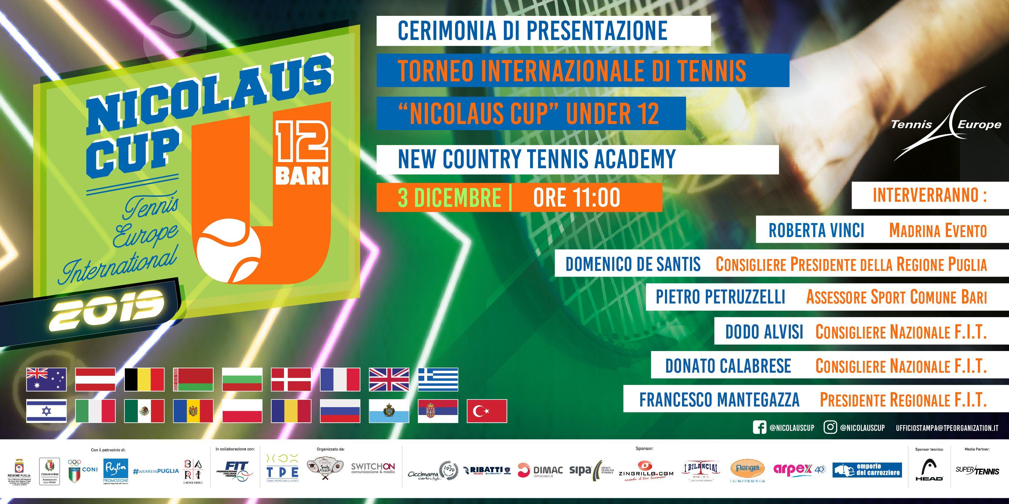 Conferenza stampa di presentazione Nicolaus Cup di tennis.