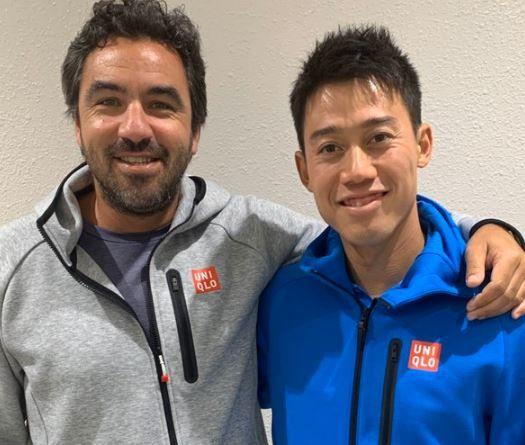 Kei Nishikori classe 1989 e Dante Bottini