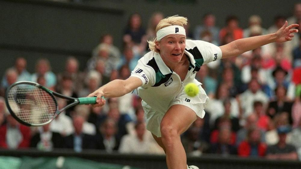 Jana Novotna raggiunse tre finali a Wimbledon.