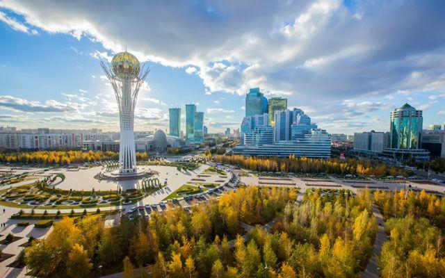 """Veduta di Nur Sultan, la """"vecchia"""" Astana"""