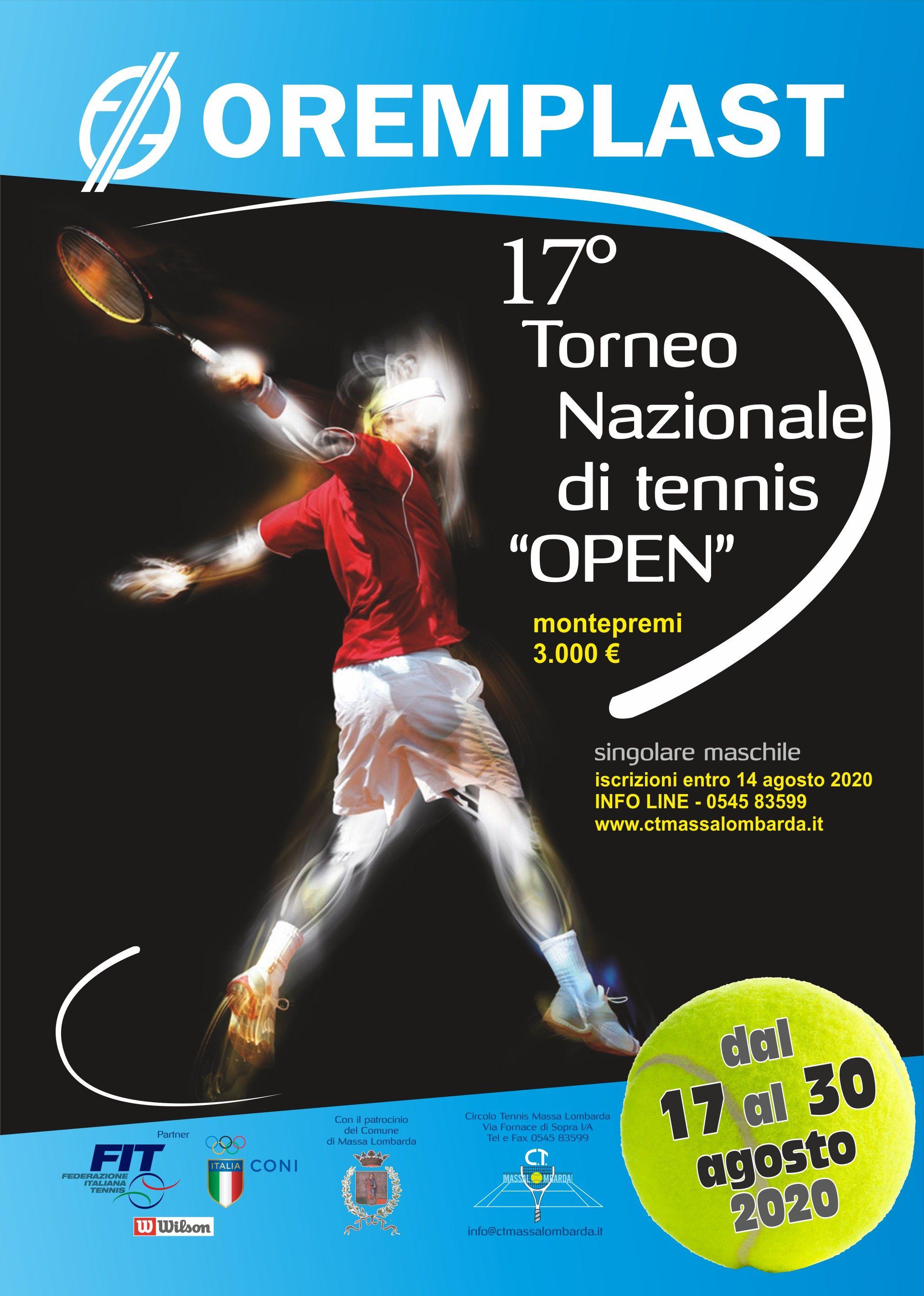 Trofeo Oremplast, torneo Open maschile: Possibile presenza del giovane Luciano Darderi