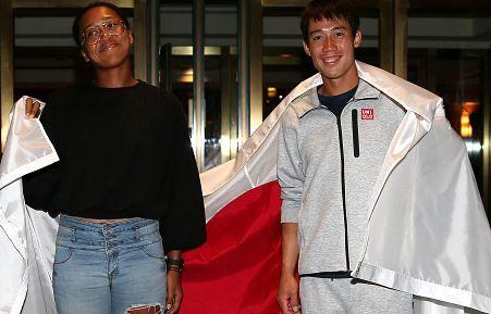 Naomi Osaka e Kei Nishikori nella foto