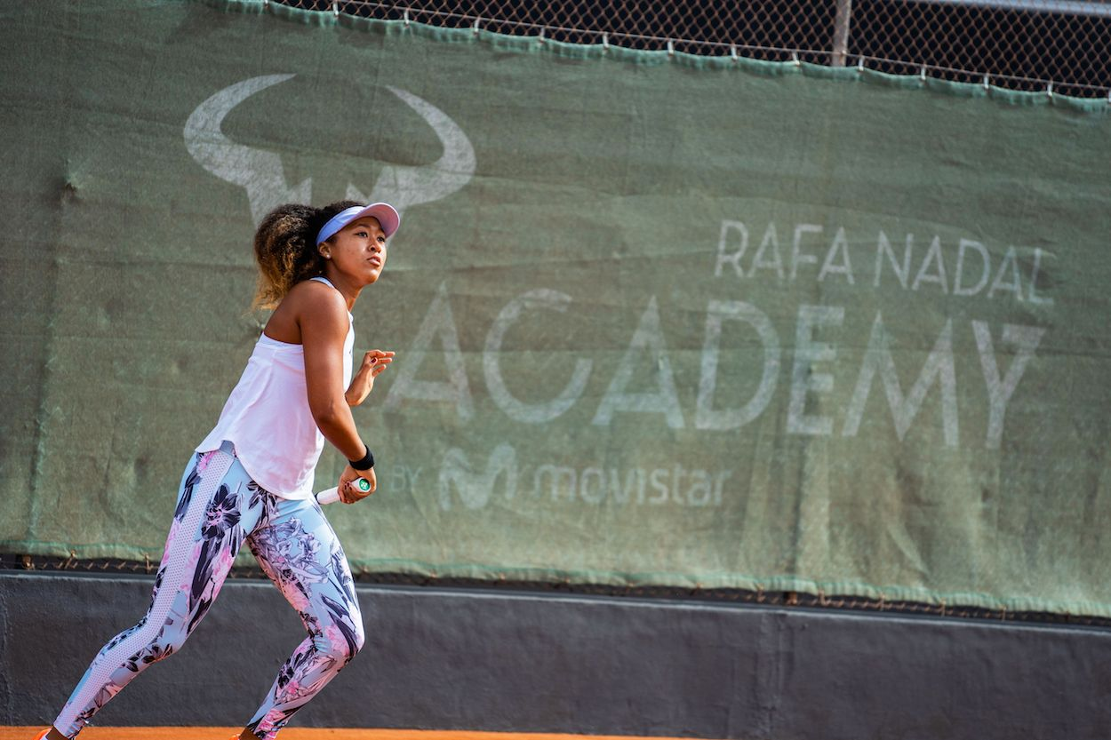Naomi Osaka sui campi della Rafa Nadal Academy