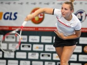 Justine Ozga ha vinto il suo primo match con Ceriano sconfiggendo Stefania Chieppa del Circolo Sporting Stampa di Torino - Foto Carlo Anastasio