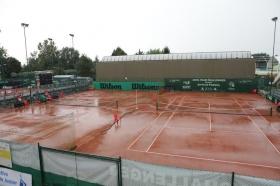I campi del Centro Sportivo 2000 oggi sotto la pioggia - Foto Lodovica Barbiero