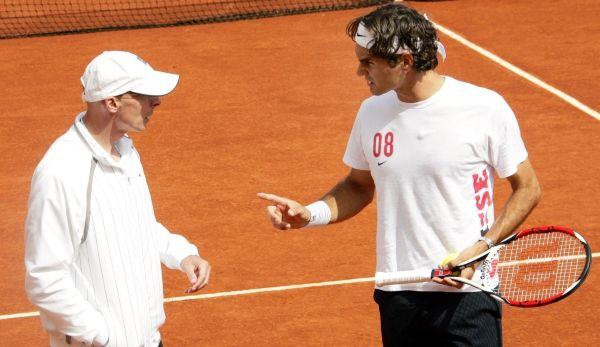 Pierre Paganini insieme a Federer