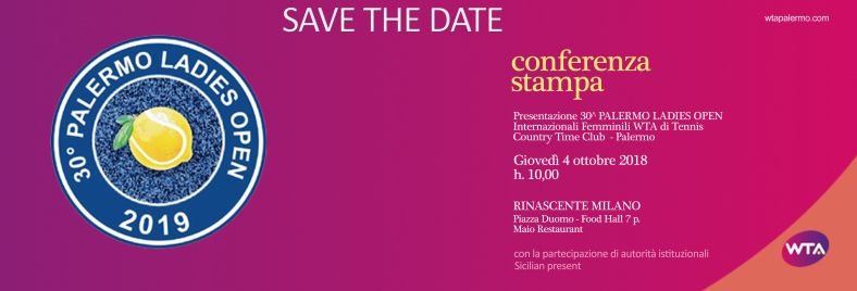 Save The Date - Wta Palermo