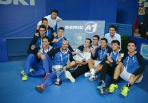La gioia del Park Tennis Club Genova dopo la vittoria del Campionato Italiano di Serie A1
