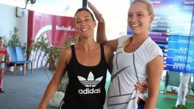 Flavia Pennetta e Donna Vekic