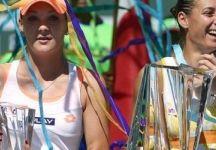"""Flavia Pennetta dopo il trionfo ad Indian Wells: """" Oggi era il mio giorno, ho vinto uno dei tornei più importanti del circuito.E ringrazio Fabio Fognini, seduto qui in tribuna a sostenermi"""""""
