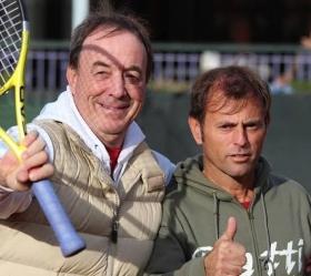I due coach italiani Riccardo Piatti (a sinistra) e Max Sartori. Il Piatti Team è pronto a stabilirsi permanentemente a Bordighera