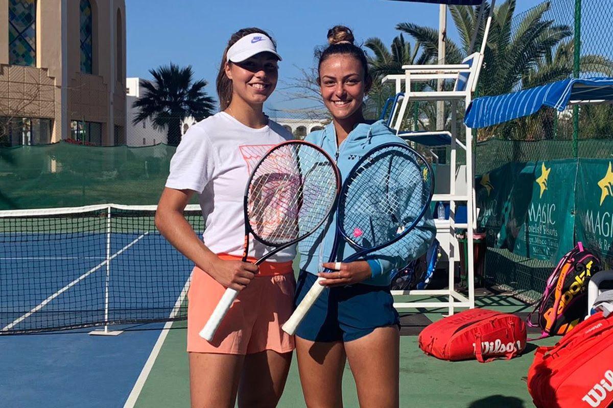 Ela Nala Milic (sinistra), slovena classe 2006, e Tea Lukic, tedesca classe 2004. Sono due delle grandi promesse che si allenano al Piatti Tennis Center