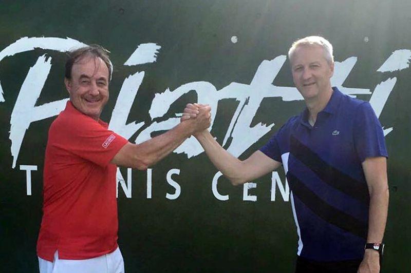 Riccardo Piatti (a sinistra) con Luigi Bertino, nuovo direttore tecnico del Piatti Tennis Center
