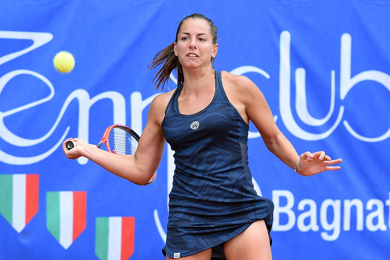 Camilla Scala, 24 anni da Imola, è una delle tre italiane qualificate per il tabellone principale del Trofeo Cpz. Martedì sfida la n.1 Grammatikopoulou - Foto San Marco