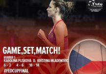 Pliskova e Mladenovic metteno a segno il record di un set in Fed Cup (il video dell'ultimo punto)