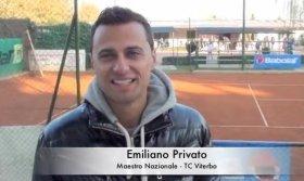 Emiliano Privato Maestro nazionale del TC Viterbo e allenatore di Simone Poeta, il classe 2003 più forte d'Italia