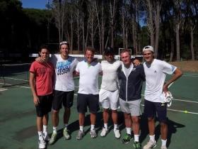 Nella foto ci sono Mariano Monachesi (con il berretto nero) , Horacio Anselmi, Eduardo Infantino, Fede Coria e Gianluca Quinzi