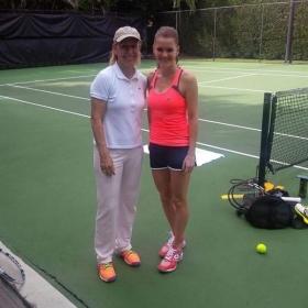 Nella giornata di ieri Martina ha allenato per la prima volta Agnieszka