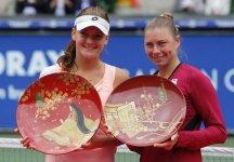 WTA Tokyo: Flavia Pennetta sconfitta nella finale di doppio. Agnieszka Radwanska vince in singolare