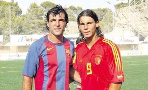 Rafa Nada con lo zio Miguel Angel, in uno scatto di alcuni anni fa
