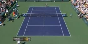 Milos Raonic ha commesso il doppio fallo sulla palla match