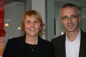 Nelle foto Raffaella Reggi con Luca Negro, ideatore del progetto Da Campioni