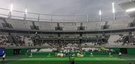 I giocatori testano il Campo Centrale di Rio (Video)