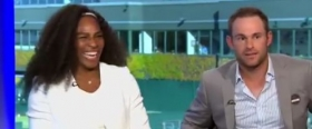 Serena Williams e Andy Roddick nella foto