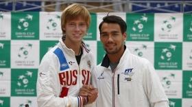 Andrey Rublev e Fabio Fognini