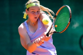 La russa Ludmilla Samsonova, classe 1998, è in finale al Torneo Avvenire - Foto Francesco Panunzio
