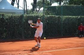 Vincenzo Santopadre si è allenato stamane con Roger Federer al Foro Italico - Foto Alessandro Nizegorodcew