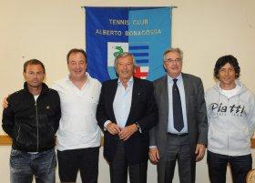 Da sinistra, Massimo Sartori, Riccardo Piatti, Sergio Tacchini, Enrico Cerutti e Danilo Pizzorno