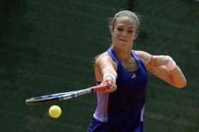 Chiara Scremin, di base a Milano, al Tc Ambrosiano sfida al 2° turno delle qualificazioni la tedesca Kurz - (Foto Francesco Panunzio).