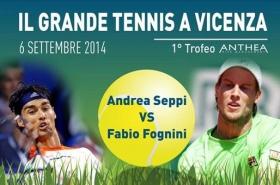 Fabio Fognini e Andrea Seppi si sfideranno il prossimo 6 settembre presso il Circolo Tennis Palladio a Vicenza.
